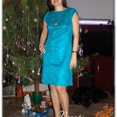 бирюзовое платье 2