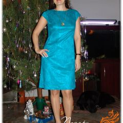 бирюзовое платье 1