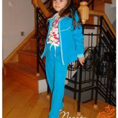 бирюзовый велюровый костюм 1