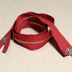 Красно-коричневая молния 100 см 2 бегунка - 60 грн.