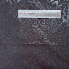 Плащевка черная (буквы блестящие) - 82 грн./м