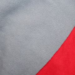 двусторонний микрофлис серо-красный -  ширина 150см Цена 165 грн./м