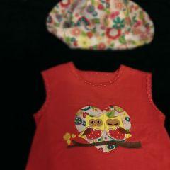 """шляпка и трикотажное платье """"Совы"""""""