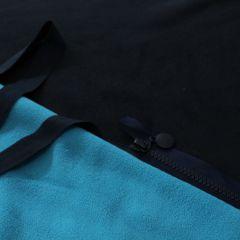 молния темно-синяя с круглым пуллром и 2хсторонний флис темно-синий+голубой, бейка-резинка 2см темно-синяя