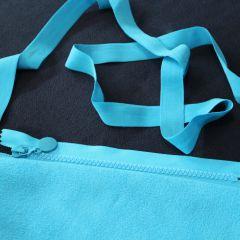 молния голубая с голубыми звеньями и 2хсторонний флис темно-синий+голубой, бейка-резинка 2 см голубая
