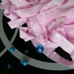 бейка-резинка (пополамка) матовая розовая с сердечками ширина 1,5 см  Цена 4 грн/м