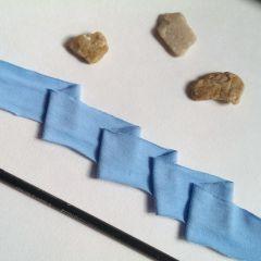 бейка трикотажная для окантовки ширина 3,5см (голубая)- цена 3 грн/м