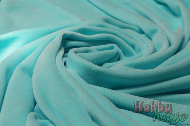 Ментоловый велюр с голубинкой хб 180 см - 150 грн./м.