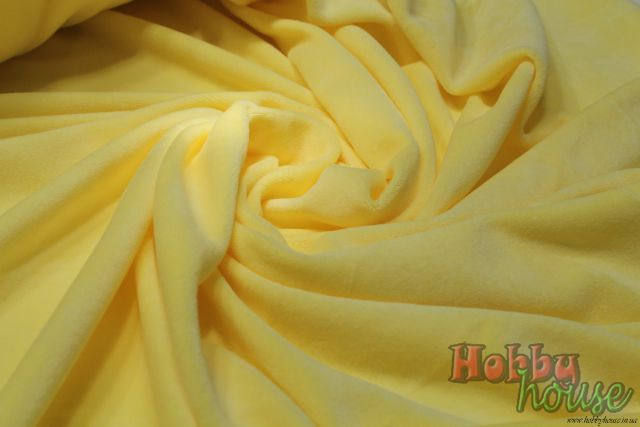 Светло-желтый велюр хб 180 см - 150 грн./м.