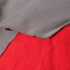 двусторонний микрофлис красно-серый - 165 грн./м
