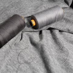 Серые ниточки и рибана серый меланж