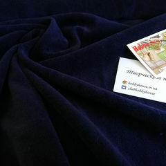 Велюр хб темно-синий 180 см - 150 грн./м