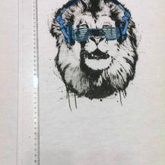 """Прямая печать на футере 3-хнитка с начесом """"Лев"""" Размер полочки  60х70см  Цена  150 грн"""