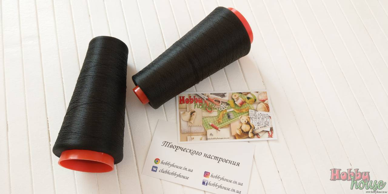 Текстурированная нить черная 5000 м - 45 грн./шт.
