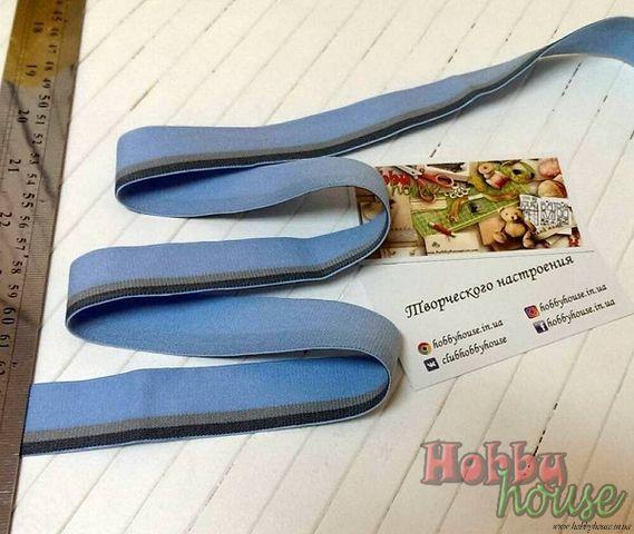 резинка мужская бельевая серо-голубая 3,5 см - 18 грн./м