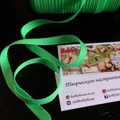 Лента киперная салат зеленый 1см - цена 2,5 грн