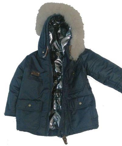 Автор: Наталья Натикова   Синяя плащевка, подклад OMNI-HEAT, шнур, молния = куртка и комбез на мальчишку . )