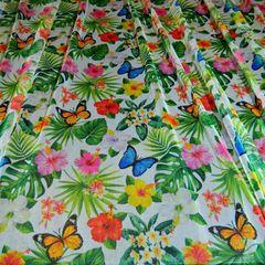 евросетка тропики и бабочки, 150 см - 161 грн./м
