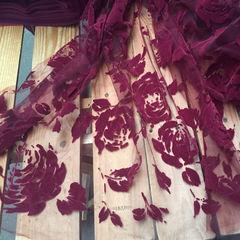 флок розы баклажан, шир. 150 см - 116 грн./м