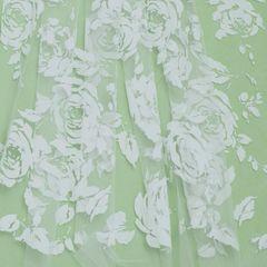 флок розы белые, шир. 150 см - 116 грн./м
