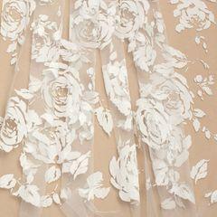 флок розы молоко, шир. 150 см - 116 грн./м