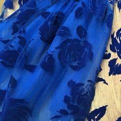 флок розы синие, шир. 150 см - 116 грн./м