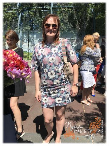джинсовое платье цветы 1