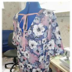 джинсовое платье цветы 2