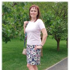 юбка из джинса цветы