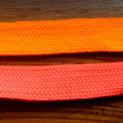 шнурки длина 105 см ширина 1,8 см   оранж и роз неон