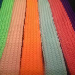 шнурки однотонные ширина 1,8см длина 95-110см цена 7 грн/шт