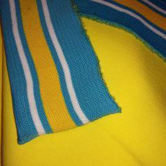 Манжет бело-желтая полоска на бирюзе (16,5х146 см) - 52 грн./шт.