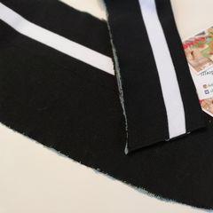 Подвяз (манжет) акриловый черный с белой полосой 16*162 см - 60 грн.