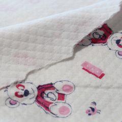 Капитоне розовые мишки на молоке хб с наполнителем, шир. 2х80 см - 136 грн./м