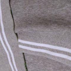 Манжет белые полосы на сером меланже (15х183 см) - 56 грн./шт.