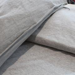 Сочетание кулира светлый меланж и стрейч-футера 2-нитки серый меланж