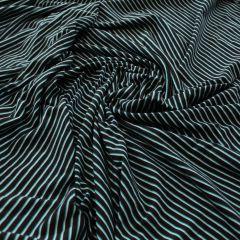 кулир пенье бело-бирюзовая полоска на черном, шир. 185 см - 90 грн./м