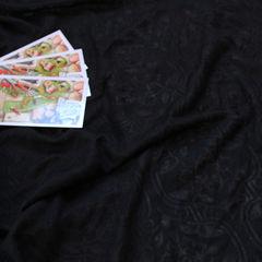вискозный кулир Деворе черный, шир. 160 см - 90 грн./м