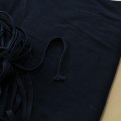 Темно-синий плоский шнур (на фоне 3-нитки петля), шир. 8 мм - 3,50 грн./м
