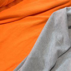 футер хб - 3-нитка морковка петелька и стрейч-футер 2-нитка серый меланж с начесом
