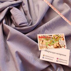 рубашка сине-белая, смесовка, 150 см - 95 грн./м