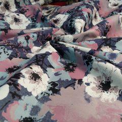 Джинс цветы 145 см - 125 грн./м
