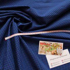 рубашка черно-синяя клетка 150 см - 124 грн./м