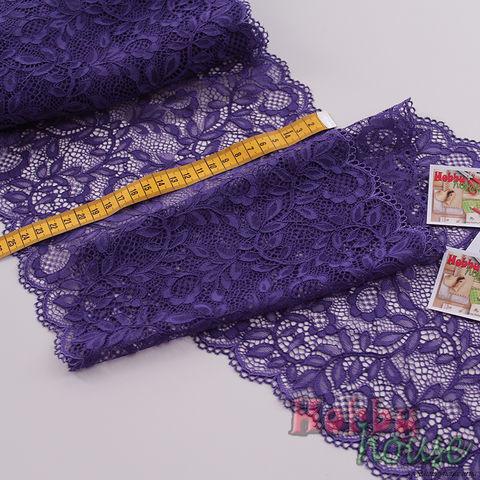 Стрейч-кружево фиолет 605-К 25 см - 50 грн./м