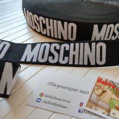 резинка мужская  moschino черная с золотом 3,5 см - 28 грн./м