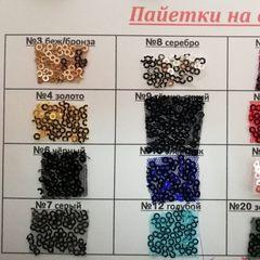 Пайетки на сетке 3 мм, 150 см - 295 грн./м