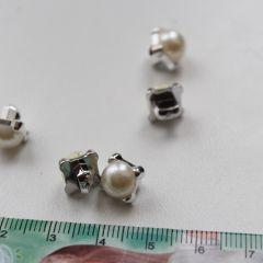Пуговица жемчужина серебро