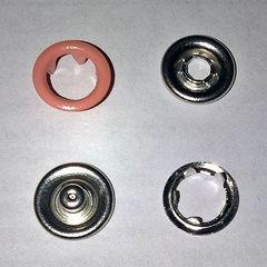 трикотажная кнопка колечко 9.5 мм  №10 пудра