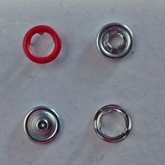трикотажная кнопка колечко 9.5 мм  №148 красный