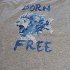 Печать на ткани - лев
